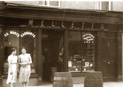 Mellett's Emporium Swinford Co Mayo Ireland in the 1950's