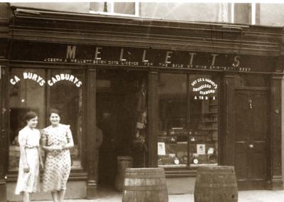 Mellett's Emporium Swinford Co Mayo Ireland in the 1950's
