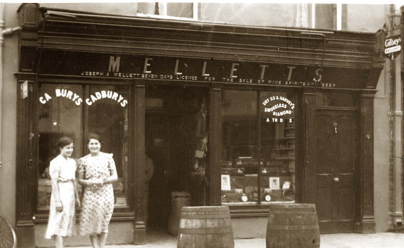 Mellett's Emporium Swinford Co Mayo in the 1950's