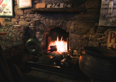 During the winter enjoy a drink by the fire!
