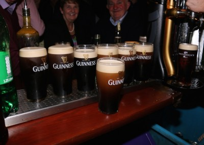 Enjoy a pint of Guinness at Mellett's Emporium Swinford